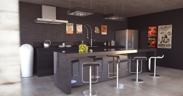 Loft Kitchen (designed by me)