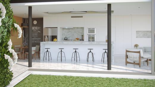 Cozinha c013 parede verde