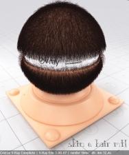 hair skin material